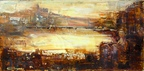 Rhine valley Twilight   - Oil  painting on canvas - Viorica Ciucanu.jpg