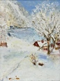 Winter Landscape  - Oil  painting on cardboard - Viorica Ciucanu.JPG