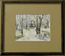 Winther time  in the Park -  Watercolor  painting on cardboard - Viorica Ciucanu.jpg